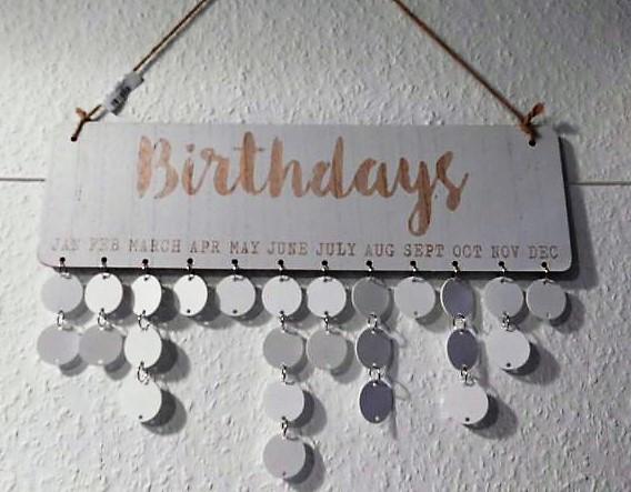 Nadelöhr - Bastel und Handarbeitsbedarf   Geburtstagsplaner Shabby chic\